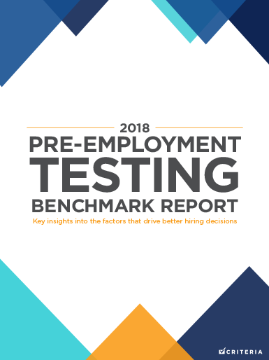 2018 Pre-Employment Testing Benchmark Report 385x514